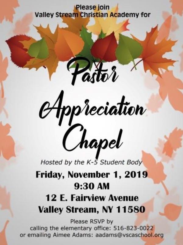 Pastor Appreciation Chapel